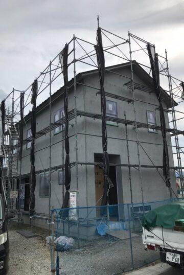 外壁左官工事(下塗り)