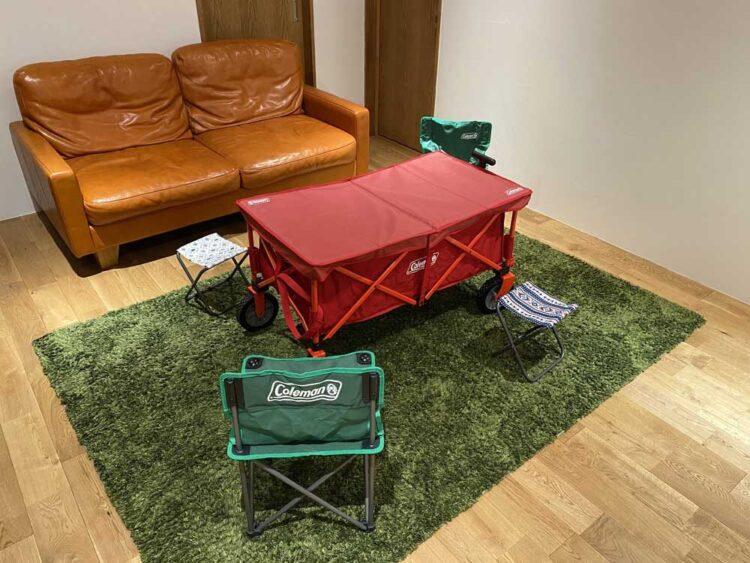 家中キャンプごっこ