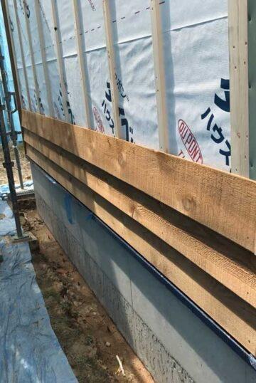 外壁木製サイディング貼り